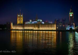 Parliament Big Ben Thames night allan