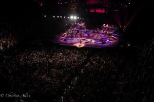 Purple stage with crowd Neil Diamond Concert 50th Anniversary Tour Sacramento Allan