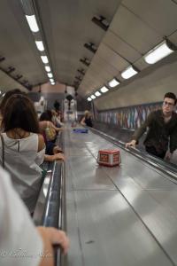 Tube underground escalator stop button london allan
