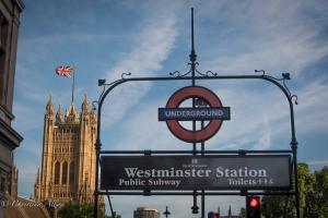 Westminster station sign parliament london allan