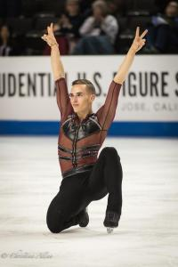 Adam Rippon Celebrates His Short Program U.S. National Figure Skating Championships San Jose Allan