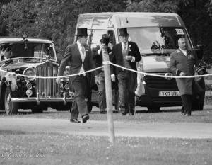 B&W Arrival of rolls royce and men royal ascot procession great windsor park DSC_3395