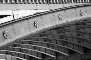 B&W Blackfriars Bridge Closeup Details London Allan