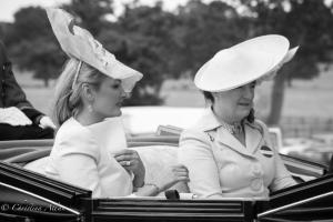 B&W Mrs. Charles Butter Hon Mrs. Stanley Serena Countess of Snowdon Royal ascot procession great windsor park allan DSC_3435