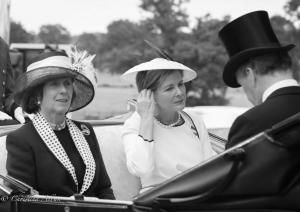 B&W Mrs. David Bowes Lyon Serena Countess of Snowdon royal ascot procession great windsor park allan DSC_3434