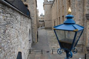 Blue lamp view of buildings tower of london allan