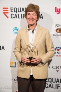 Cathy Schwamberger holding award california equality awards sacramento california allan DSC_9485