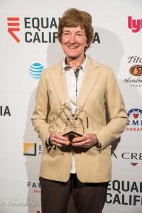 Cathy Schwamberger holding award california equality awards sacramento california allan DSC_9485