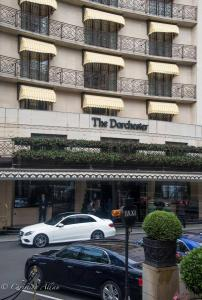 Dorchester hotel yellow awnings london allan