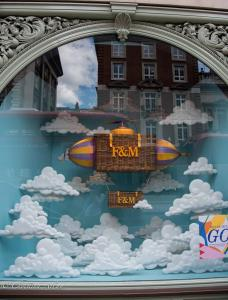 Fortnum & Mason storefront window balloon london allan