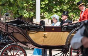 HRM Queen Elizabeth II Prince Philip Duke of Edinburgh barouche carriage Trooping the Colour birthday parade London Allan DSC_2672
