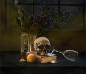 Vanitas still life skull