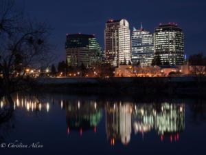 Architecture Sacramento Skyline Evening Night Allan