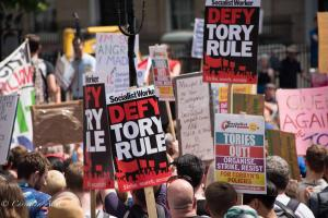 Socialist Party Protest signs london allan