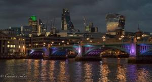 Southwark Bridge night london allan