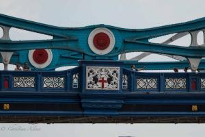 Tower Bridge City of London Bridge Coat of Arms Close-up Allan