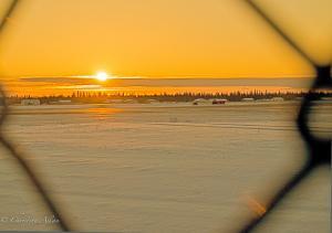 Anchorage Alaska Sunrise at the Airport