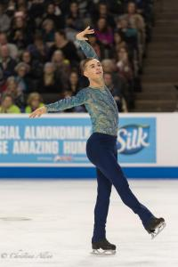 Adam Rippon Arm over head Prudential U.S. National Figure Skating Championships San Jose Men Allan DSC 8259