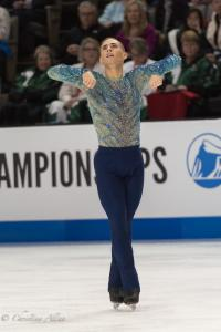 Adam Rippon Arms Bent Prudential U.S. National Figure Skating Championships San Jose Men Allan DSC 8236