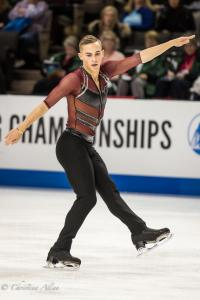 Adam Rippon Diagonal Men's SP Prudential U.S. National Figure Skating Championships San Jose Allan DSC 7176