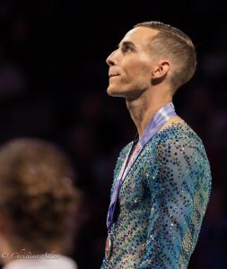 Adam Rippon Emotional Podium Award Prudential U.S. National Figure Skating Championships San Jose Men Allan DSC 8434