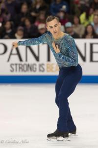 Adam Rippon Hand on Chest Prudential U.S. National Figure Skating Championships San Jose Men Allan DSC 8261