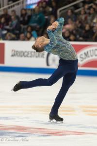 Adam Rippon Head Back Spin Prudential U.S. National Figure Skating Championships San Jose Men Allan DSC 8291