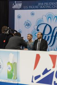 Adam Rippon Kiss N Cry Prudential U.S. National Figure Skating Championships San Jose Men Allan DSC 8307