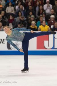 Adam Rippon Leg Spin Prudential U.S. National Figure Skating Championships San Jose Men Allan DSC 8286