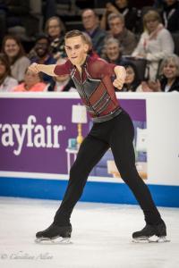 Adam Rippon Legs Split Men's SP Prudential U.S. National Figure Skating Championships San Jose Allan DSC 7188