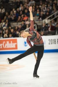 Adam Rippon Spin Men's SP Prudential U.S. National Figure Skating Championships San Jose Allan DSC 7199