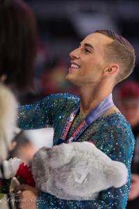 Adam Rippon Stuffed Animals Prudential U.S. National Figure Skating Championships San Jose Men Allan DSC 8480