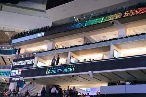 Arena interior Sign Equality Night Sacramento Kings Allan DSC 8781