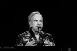 B&W Neil Diamond Hands on chest Concert Golden 1 Arena Sacramento Allan DSC 4598