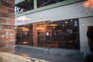 Bar reflection window commercial street alley victoria b.c. canada allan1181