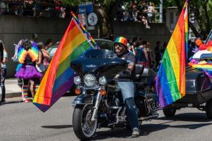 Biker rainbow flags 6102018 gay pride sacramento allan