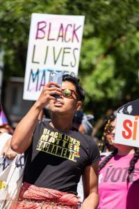 Black lives matter transwoman sunglasses 6102018 gay pride sacramento allan