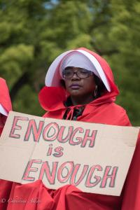 Black woman in red cape handmail coalistion March for Our Lives rally protest guns sacramento california 3242018 DSC 9063