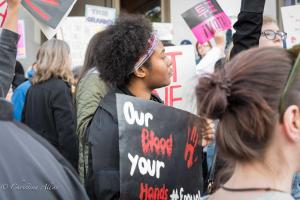 Black woman our blood your hands sign March for Our Lives rally protest guns sacramento california 3242018 DSC 8987