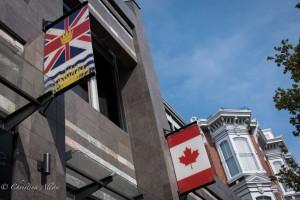 British flag Canadian flag victoria b.c. canada allan 0803