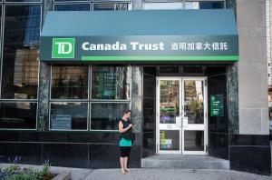 Canada Trust bank Chinese calligraphy woman street downtown toronto ontario canada allan DSC 1667