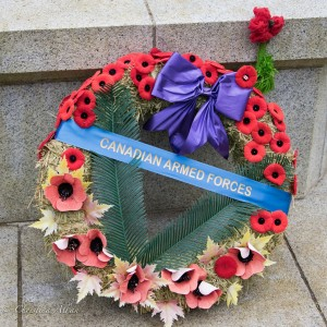 Canadian armed forces wreath ross bay cemetery victoria b.c. canada allan 0968