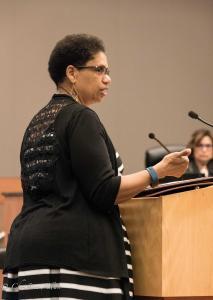 Cecilie Nunley Stephon Clark police shooting City Council Meeting  sacramento allan 432018 DSC 9377
