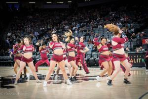 Cheer ladies Sign Equality Night Sacramento Kings Allan DSC 8935