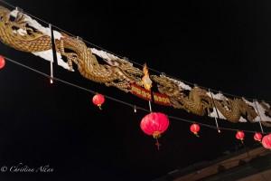 Chinatown banner lanterns night victoria b.c. canada allan 1175