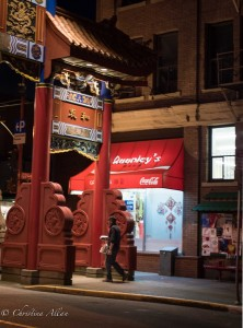 Chinatown entry gate night victoria b.c. canada allan 1160