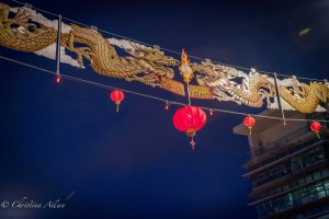 Chinatown lanterns banner night victoria b.c. canada allan 1138