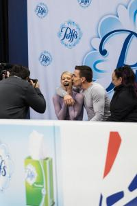 Christopher Alexa Scimeca Knierim Pairs US National Figure Skating Championships San Jose Kiss N Cry Allan DSC 7404