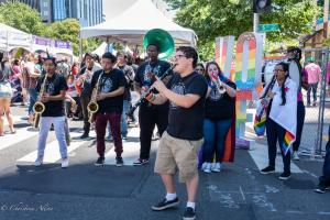 Clarinet player bigger than us arts band gay pride festival sacramento 6102018 allan