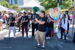 Clarinet player bigger than us arts band gay pride festival sacramento 6102018 allan
